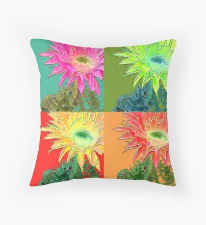 flower pop Throw Pillow