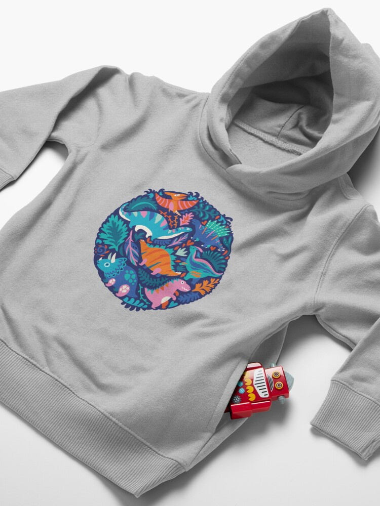 Alternate view of Dino team 1 Toddler Pullover Hoodie