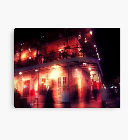 the night covered itself in red lace Canvas Print