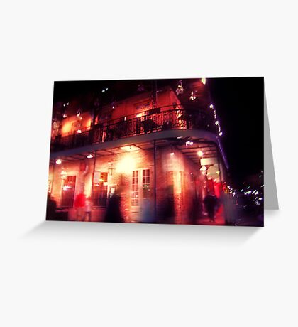 the night covered itself in red lace Greeting Card