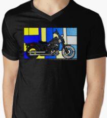 harley glass 2 Men's V-Neck T-Shirt