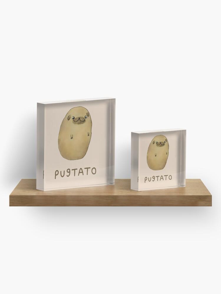 Alternative Ansicht von Pugtato Acrylblock