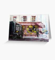 Sketching of Paris...red cafe Greeting Card