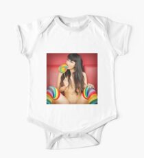 Rainbow Stockings & Lollipop - With Sophia Jade One Piece - Short Sleeve