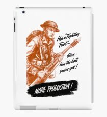 He's A Fighting Fool - WWII Propaganda iPad Case/Skin