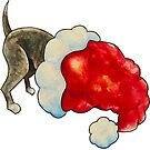 Christmas Puppy in a Santa Hat! by Jokertoons