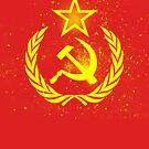 Communist Hammer & Sickle Grunge Spray by Chocodole