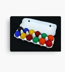 Coloured Eggs Canvas Print