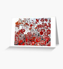 Symphony in Red Greeting Card