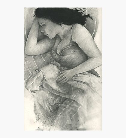 a sleeping charcoal Photographic Print