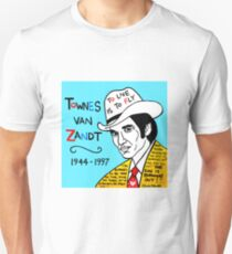Townes van Zandt Pop Folk Art Unisex T-Shirt