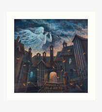 Concert For Angel With Orchestra Art Print