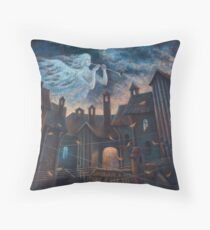 Concert For Angel With Orchestra Throw Pillow
