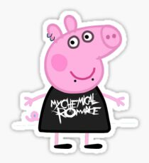 Emo Peppa Pig Stickers Redbubble