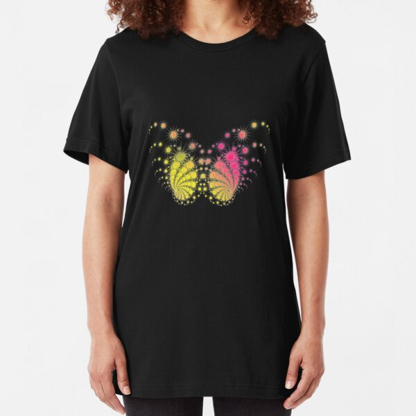 Rainbow Butterfly Slim Fit T-Shirt