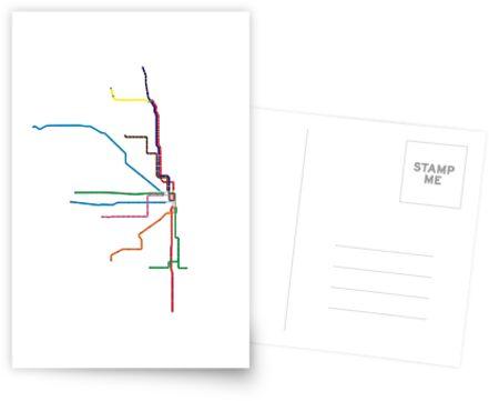 """Chicago """"L"""" Karte von jay-p"""