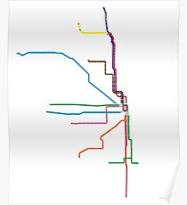 "Chicago ""L"" Map Poster"