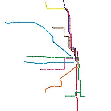 "Chicago ""L"" Map by jay-p"