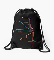 "Chicago ""L"" Map Drawstring Bag"