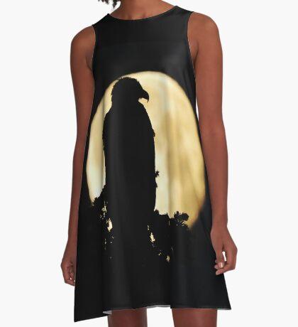 Bald Eagle Silhouette A-Line Dress