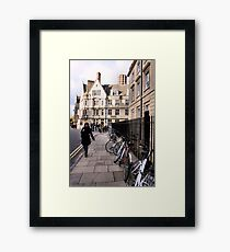 Bicycles on Broad Street Framed Print