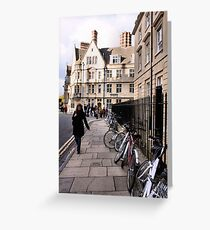 Bicycles on Broad Street Greeting Card