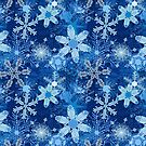 Snowflakes in Blues by Sarinilli