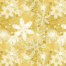 Snowflakes in Golds by Sarinilli