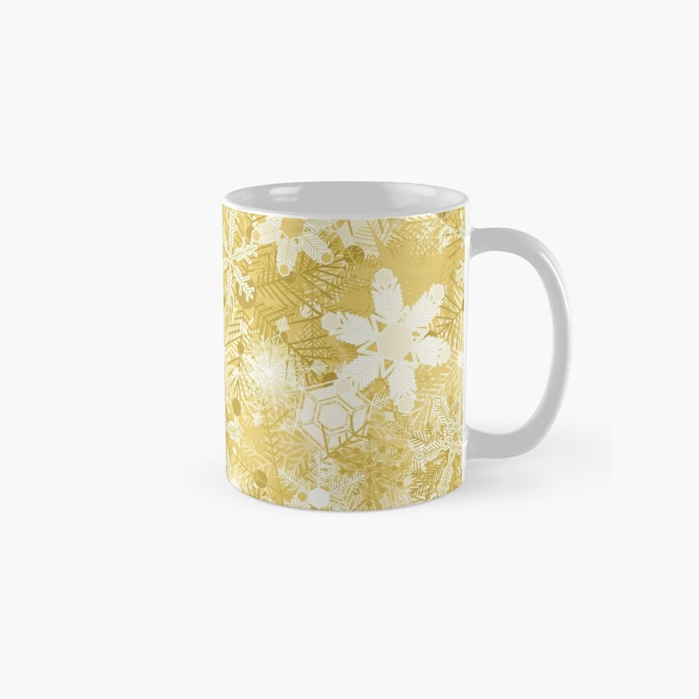 Snowflakes in Golds Mug