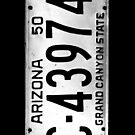 arizona license plate by tinncity
