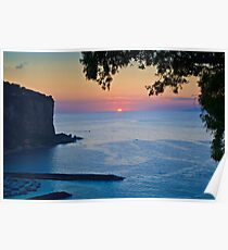 Sunset Over The Tyrrhenian Sea - Vico Equense, Italy Poster