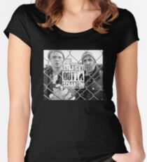 Straight Outta Scranton Women's Fitted Scoop T-Shirt