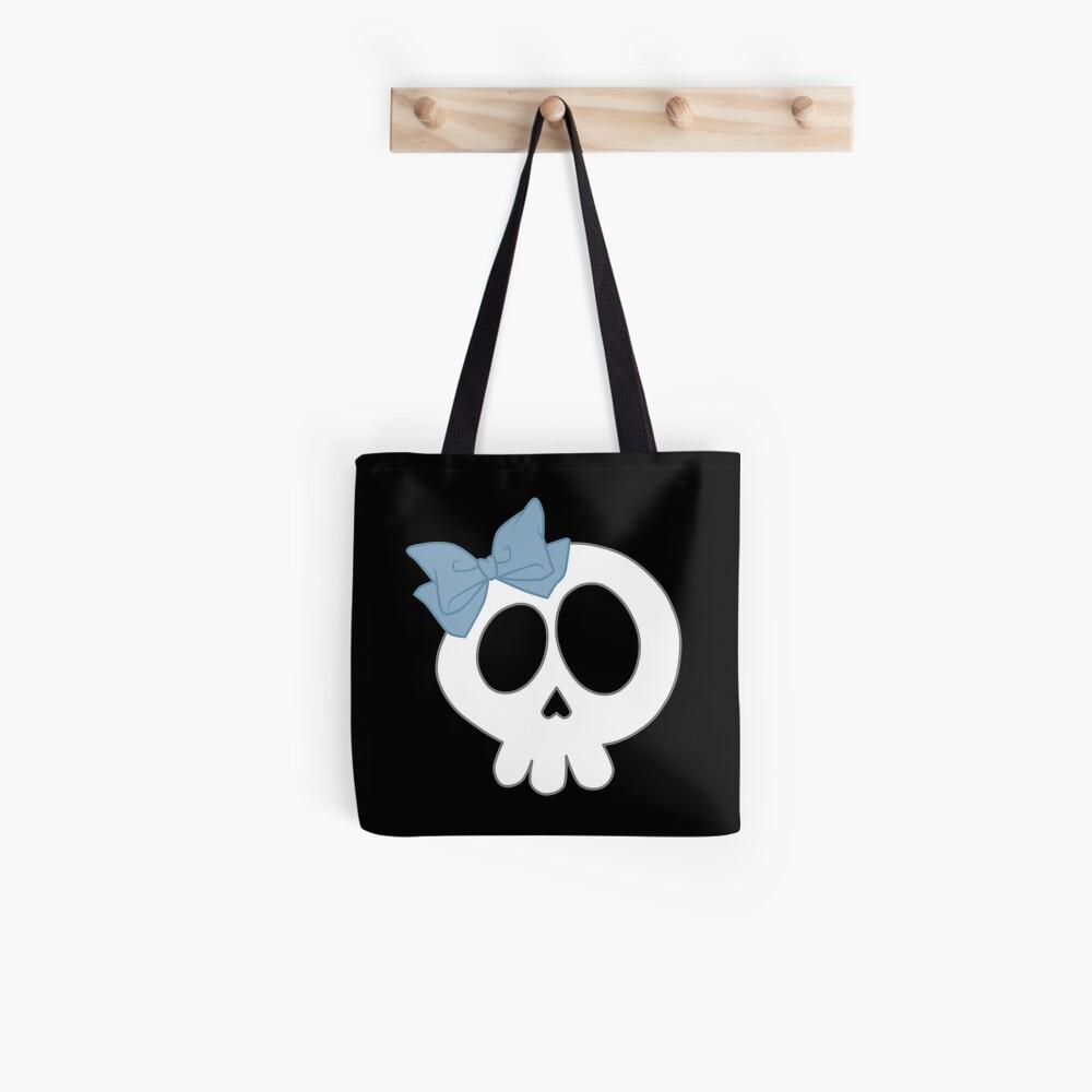 Bogenschädel Blau Tote Bag
