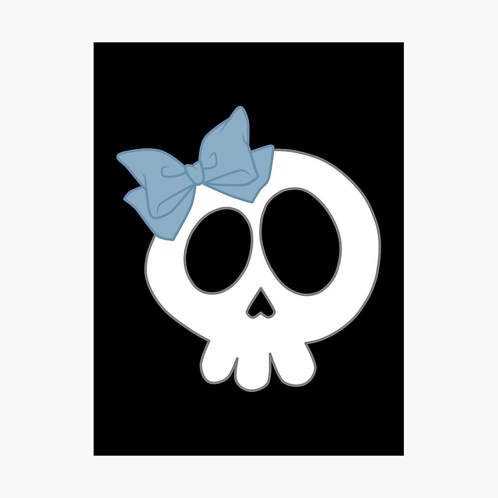 Bogenschädel Blau Fotodruck