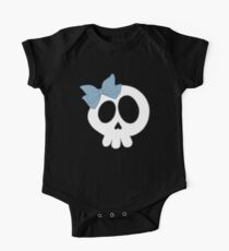 Bow Skull Blue Kids Clothes