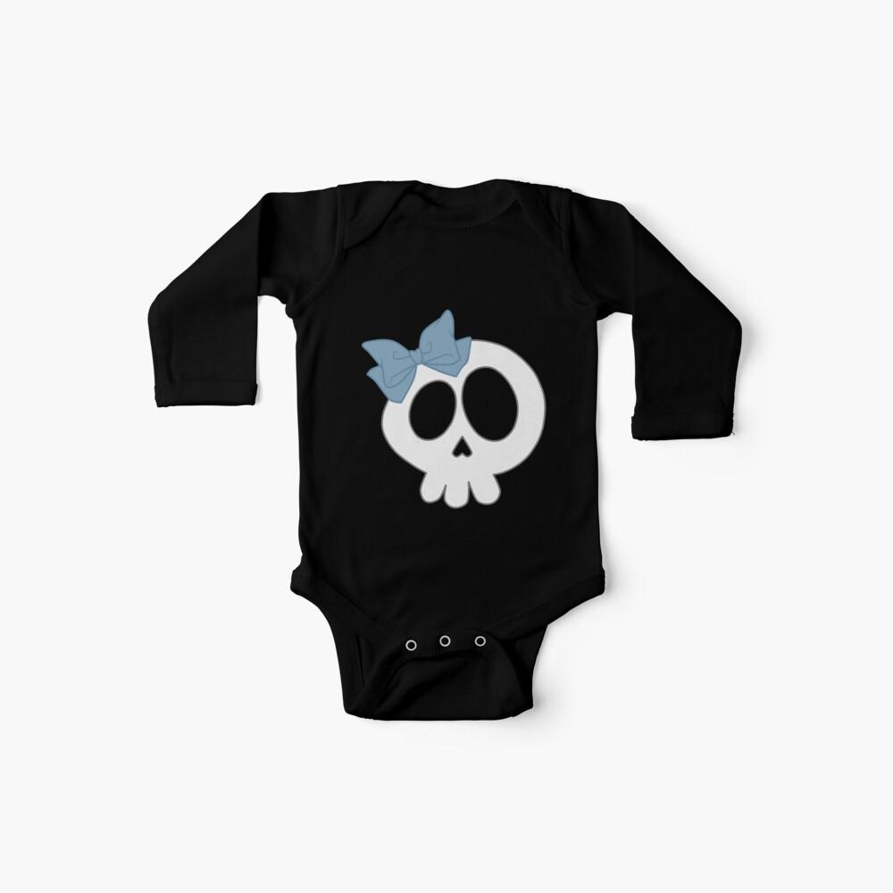 Bogenschädel Blau Baby Bodys
