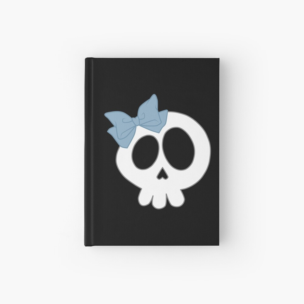 Bogenschädel Blau Notizbuch