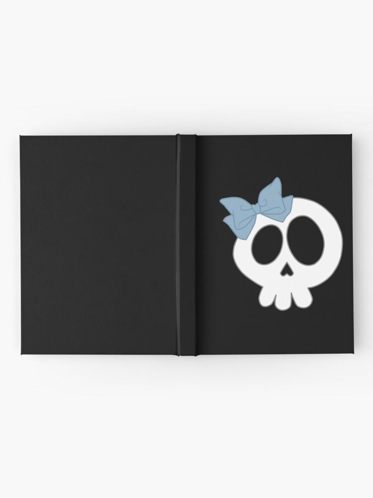 Alternative Ansicht von Bogenschädel Blau Notizbuch
