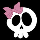 Bow Skull Pink by DeliriumLina