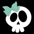 Bow Skull Teal by DeliriumLina