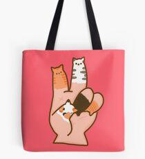 Cat Fingers Peace Tote Bag