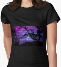 Purple Gloaming Womens Fitted T-Shirt