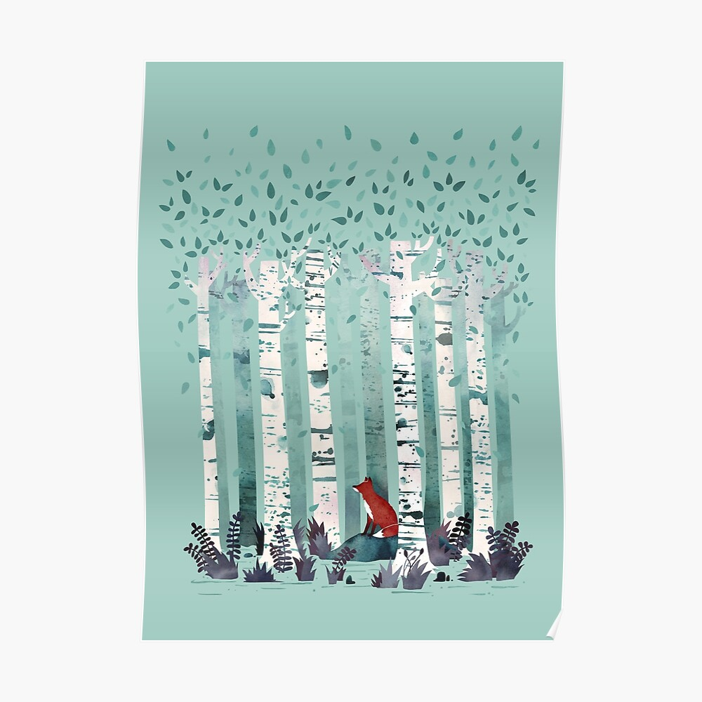 Die Birken Poster
