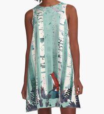 Die Birken A-Linien Kleid