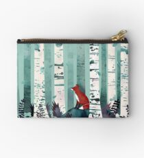 The Birches Zipper Pouch