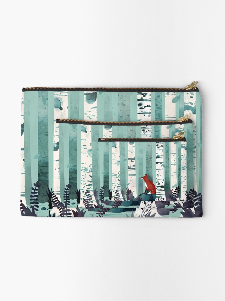 Alternate view of The Birches Zipper Pouch