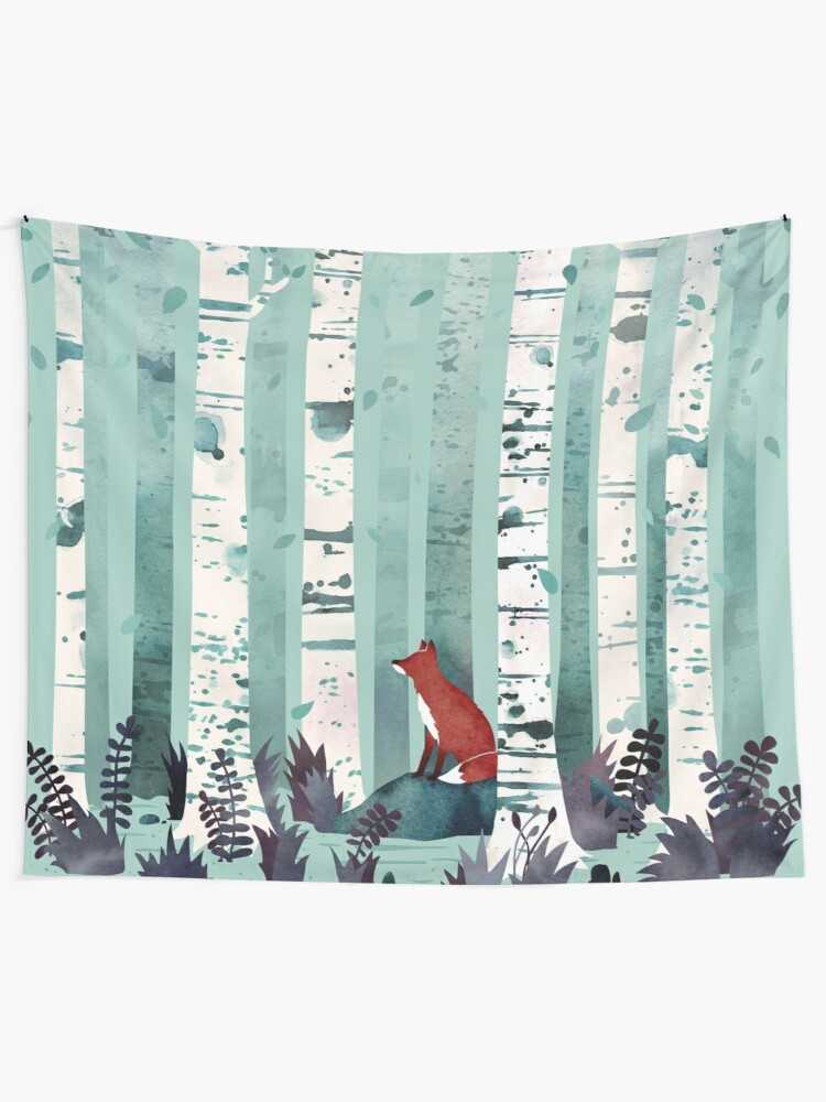 Alternate view of The Birches Wall Tapestry