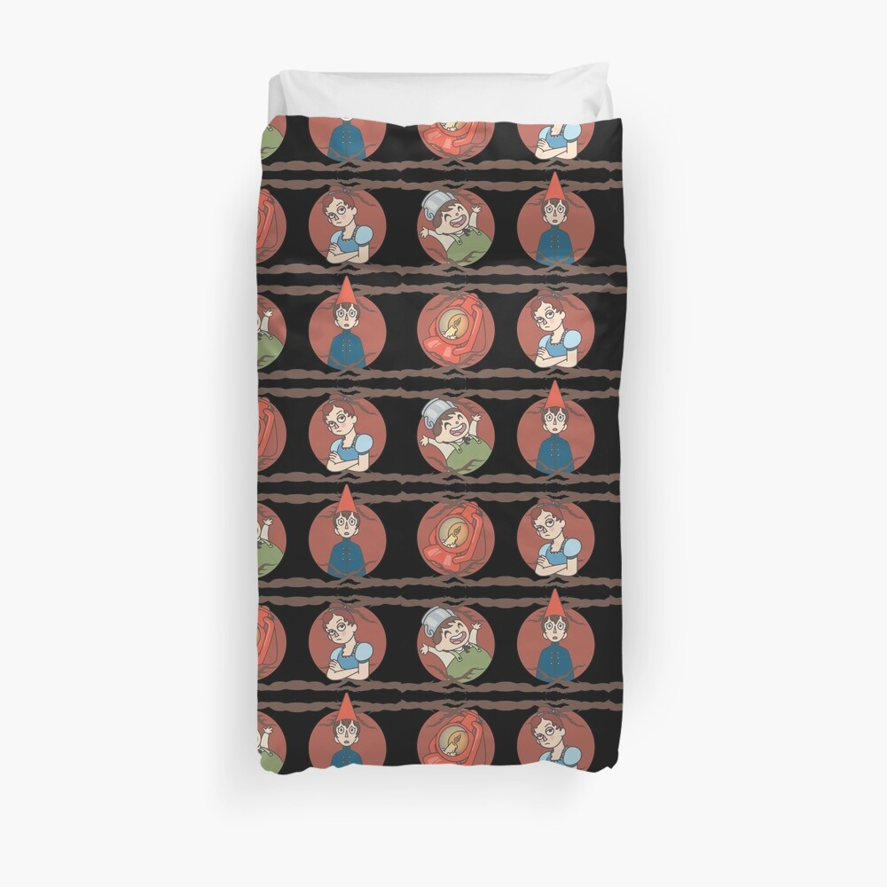 Over the Garden Wall Pattern Duvet Cover
