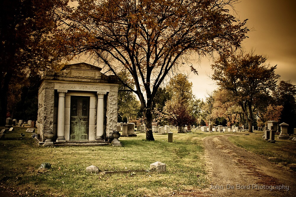 Reflecting On The Crypts Of Autumn by John  De Bord Photography