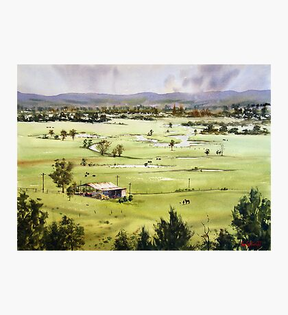 From Streeton Lookout, Freemans Reach Photographic Print